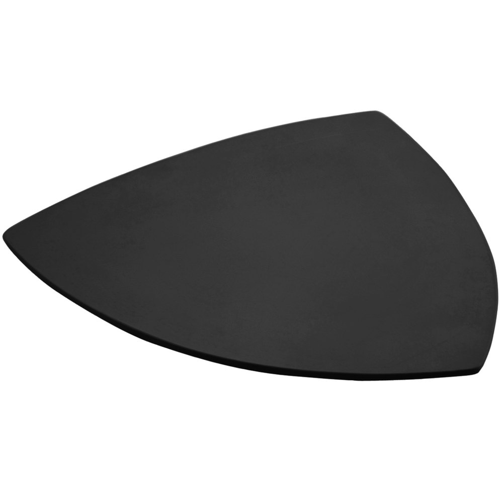 "Bon Chef 9162 24"" Sandstone Black Cast Aluminum Triangle Serving Plate"