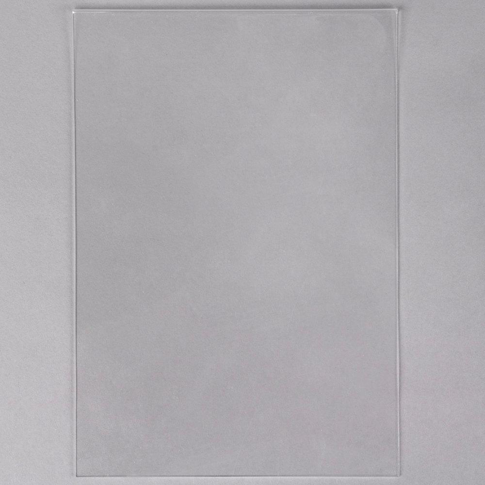 "American Metalcraft PVCLA 8 1/4"" x 11 3/4"" PVC Inserts for Large Table Top Board - 5/Pack"