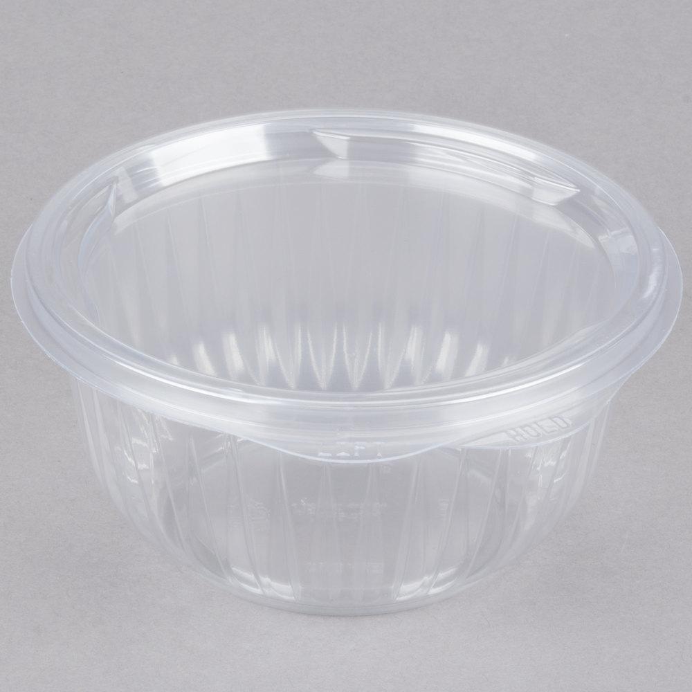 dart solo c16hbf presentabowls 16 oz clear hinged plastic bowl with flat lid 300 case. Black Bedroom Furniture Sets. Home Design Ideas