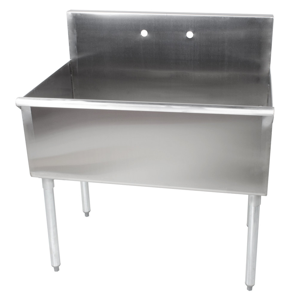 Regency 36 inch 16-Gauge Stainless Steel One Compartment Commercial Utility Sink - 36 inch x 21 inch x 14 inch Bowl