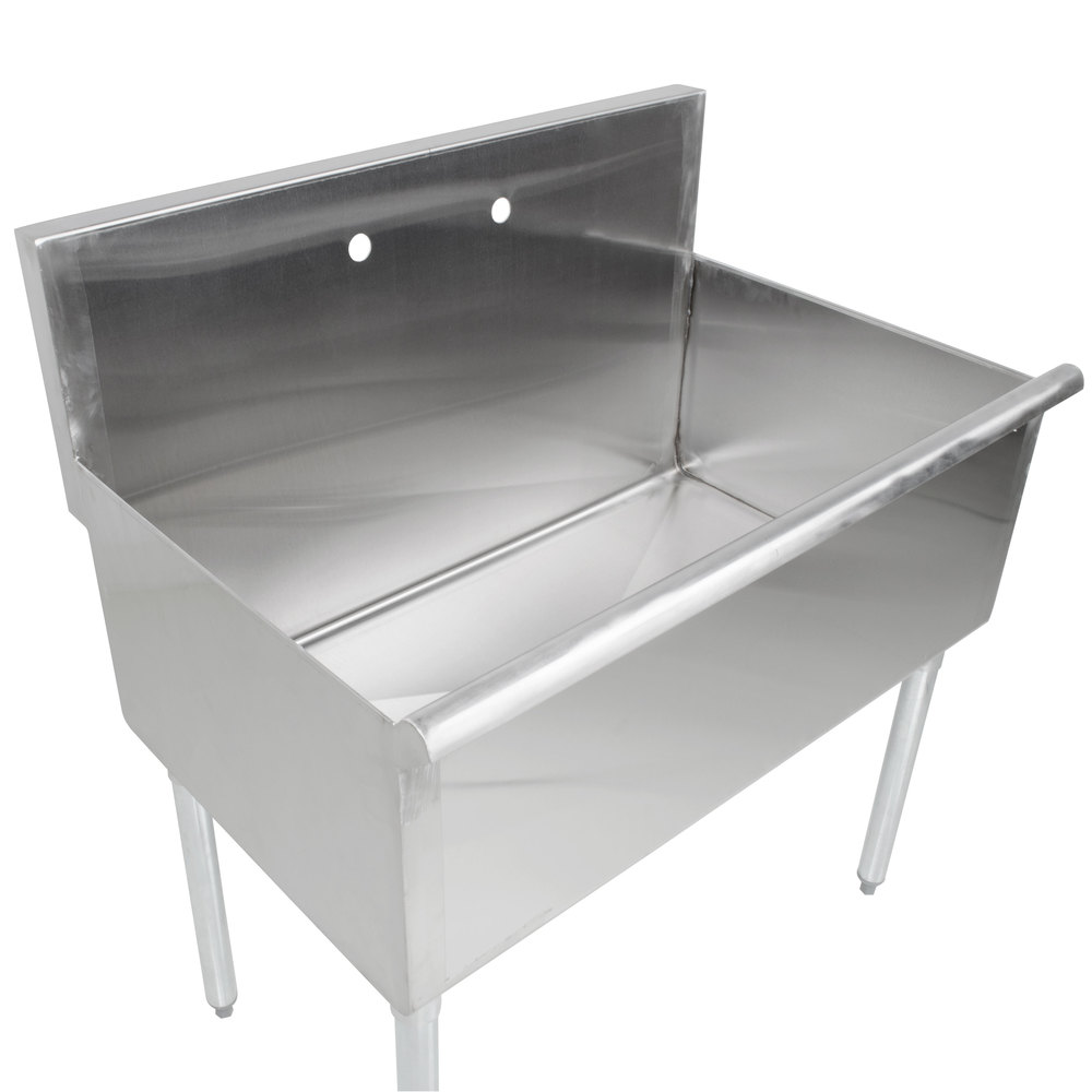 """Extra Large Stainless Steel Kitchen Sinks Regency One Bowl 36"""" x 24"""" Stainless Steel Commercial ..."""