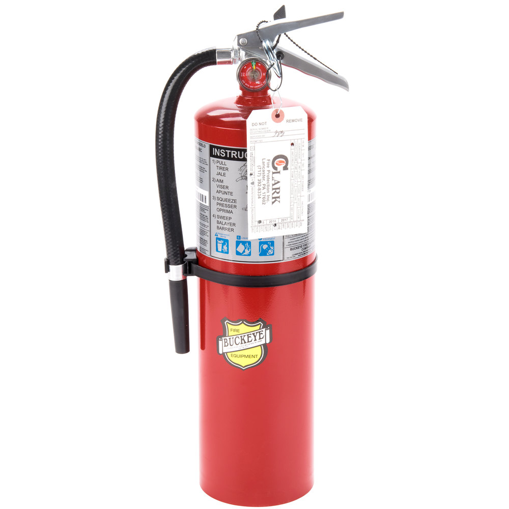 Buckeye 10 lb. ABC Fire Extinguisher - Rechargeable Tagged - UL Rating 4A-80B:C