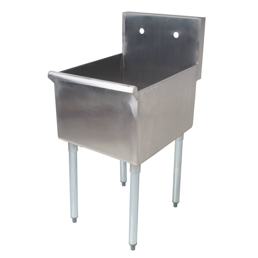 Regency 18 inch 16-Gauge Stainless Steel One Compartment Commercial Utility Sink- 18 inch x 21 inch x 13 inch Bowl