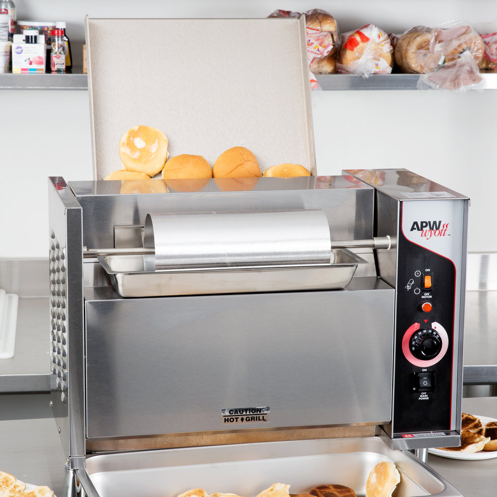 240v Apw Wyott M 95 3 Vertical Conveyor Bun Grill Toaster