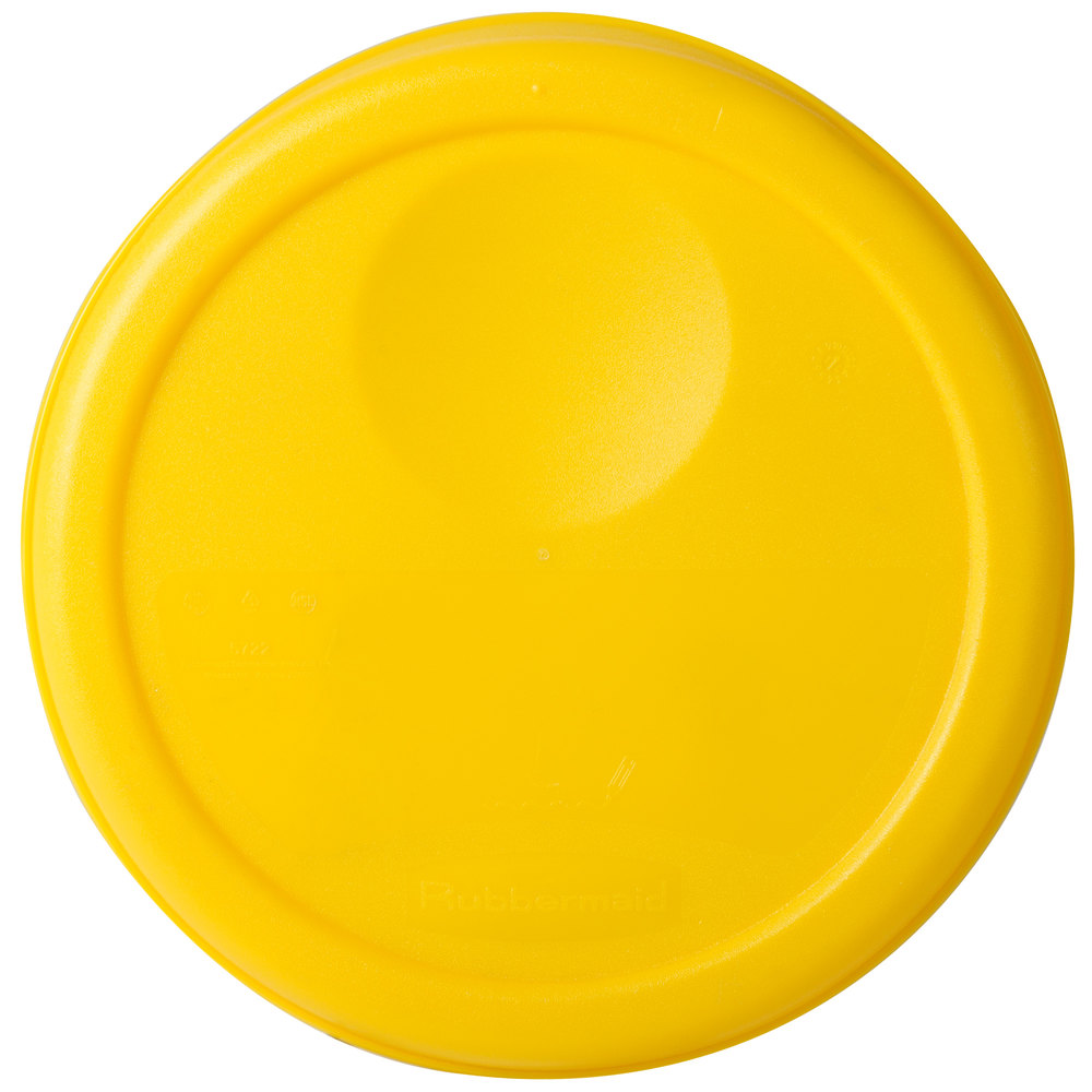 Rubbermaid 5722 Yellow Lid For 2 4 Qt Round Food Storage