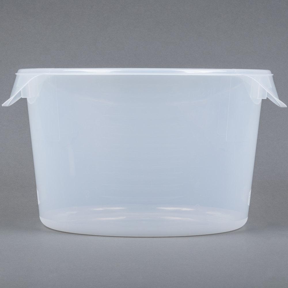 Rubbermaid 5726 24 12 Qt Semi Clear Round Food Storage