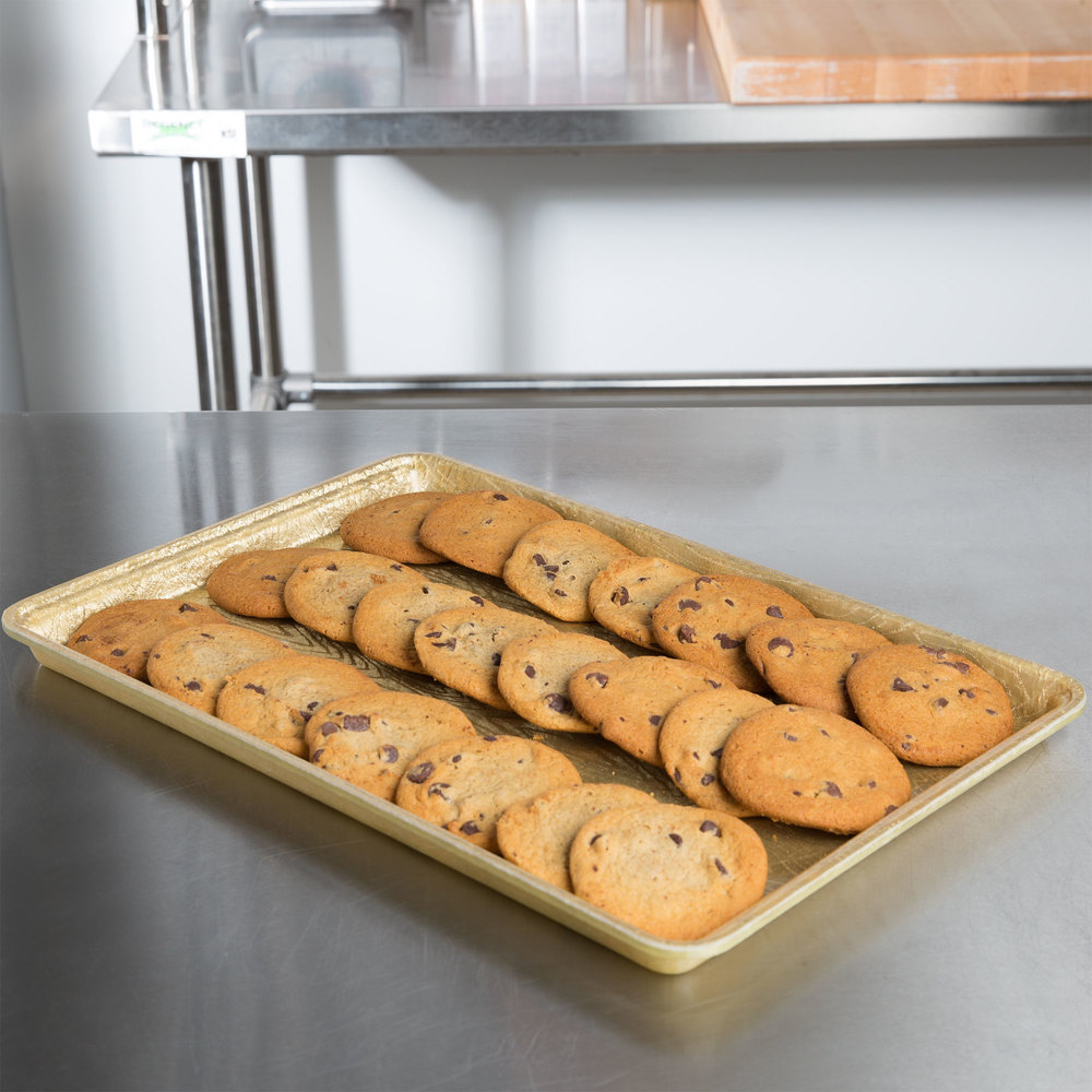 "MFG Tray 334002 1053 18"" x 12"" Goldtex Fiberglass Supreme Bakery Display Tray"