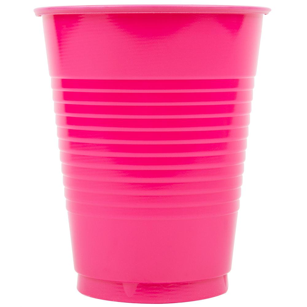 Creative Converting 28177081 16 Oz Hot Magenta Pink