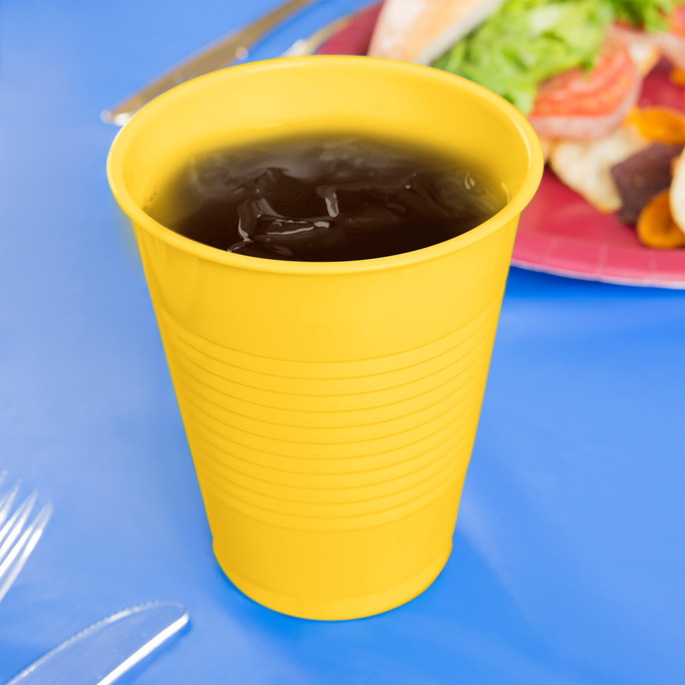 Creative Converting 28102181 16 oz. School Bus Yellow Plastic Cup - 240/Case