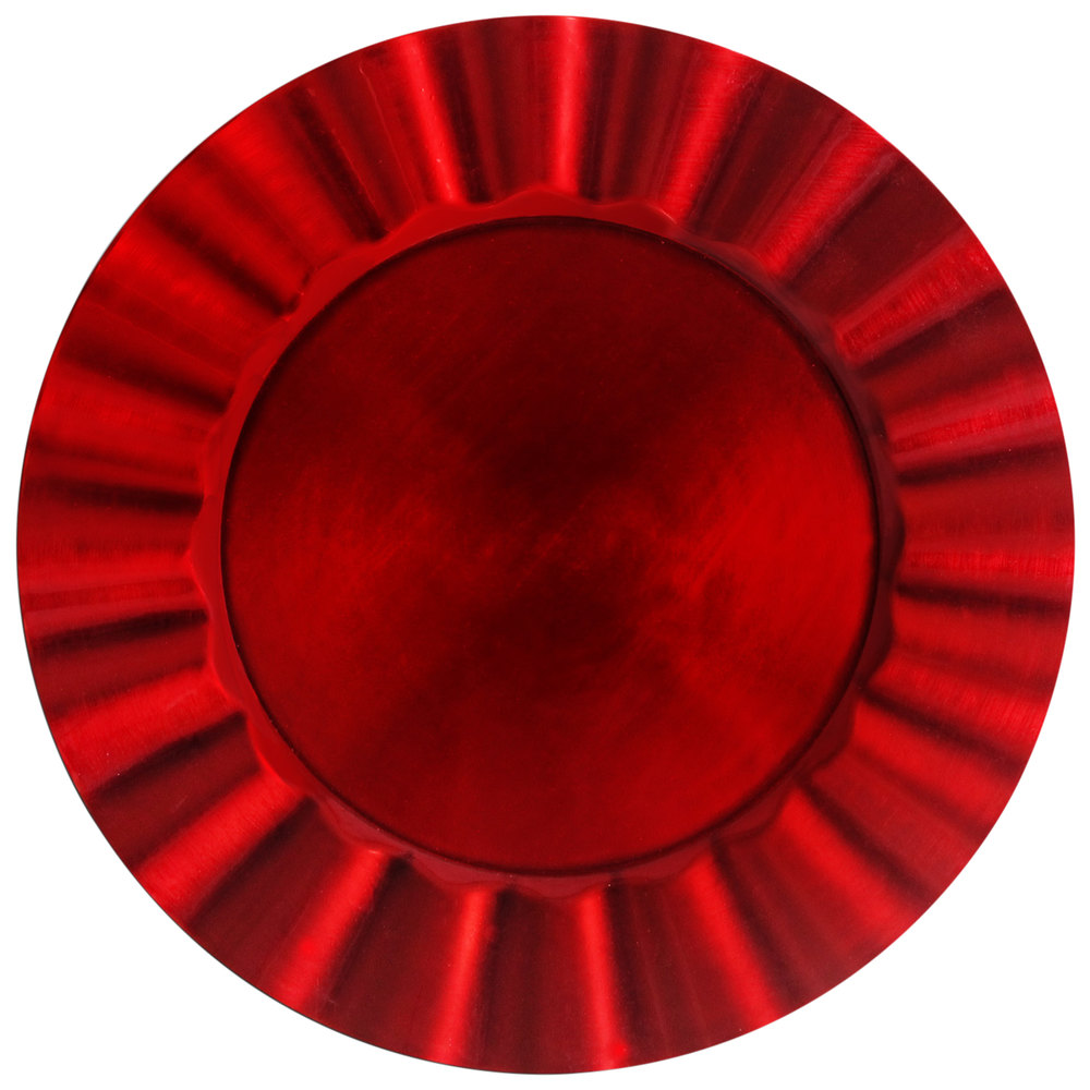 The Jay Companies 1183059 13 Quot Round Red Ruffled Rim