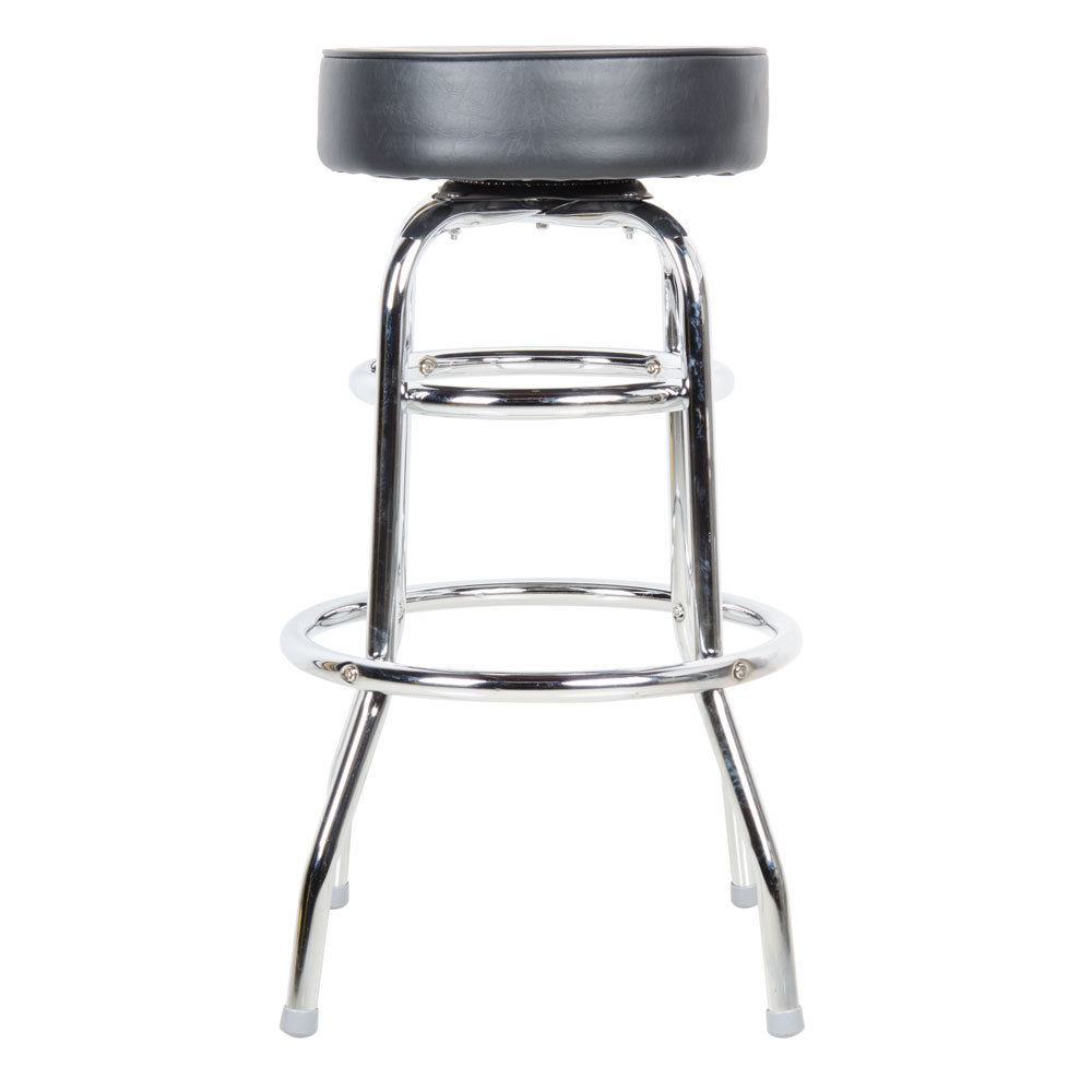 Lancaster Table Amp Seating Black Double Ring Barstool With