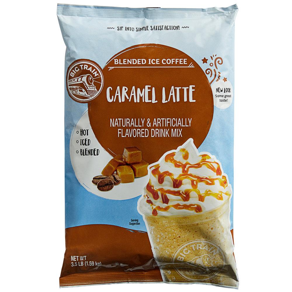Big Train 3.5 Lb. Caramel Latte Blended Ice Coffee Mix