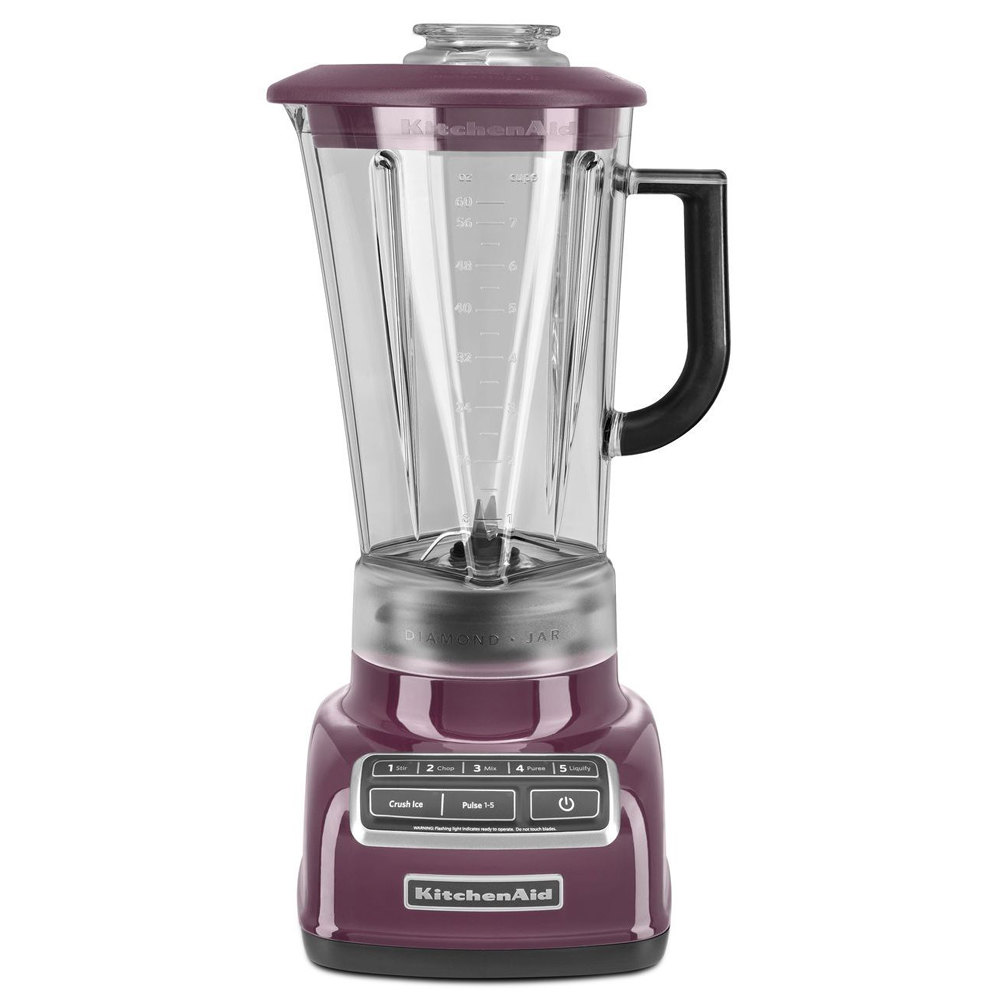 kitchenaid ksb1575by boysenberry diamond 60 oz five speed blender
