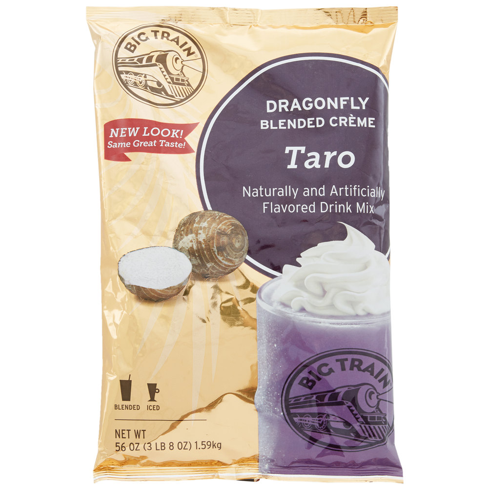 big train dragonfly taro blended creme frappe mix 3 5 lb