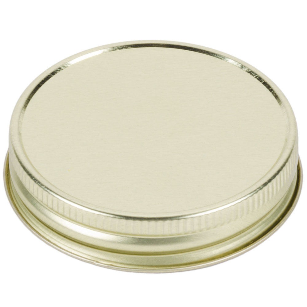 Libbey 92136 Gold Metal Drinking Jar Lid - 72 / Case