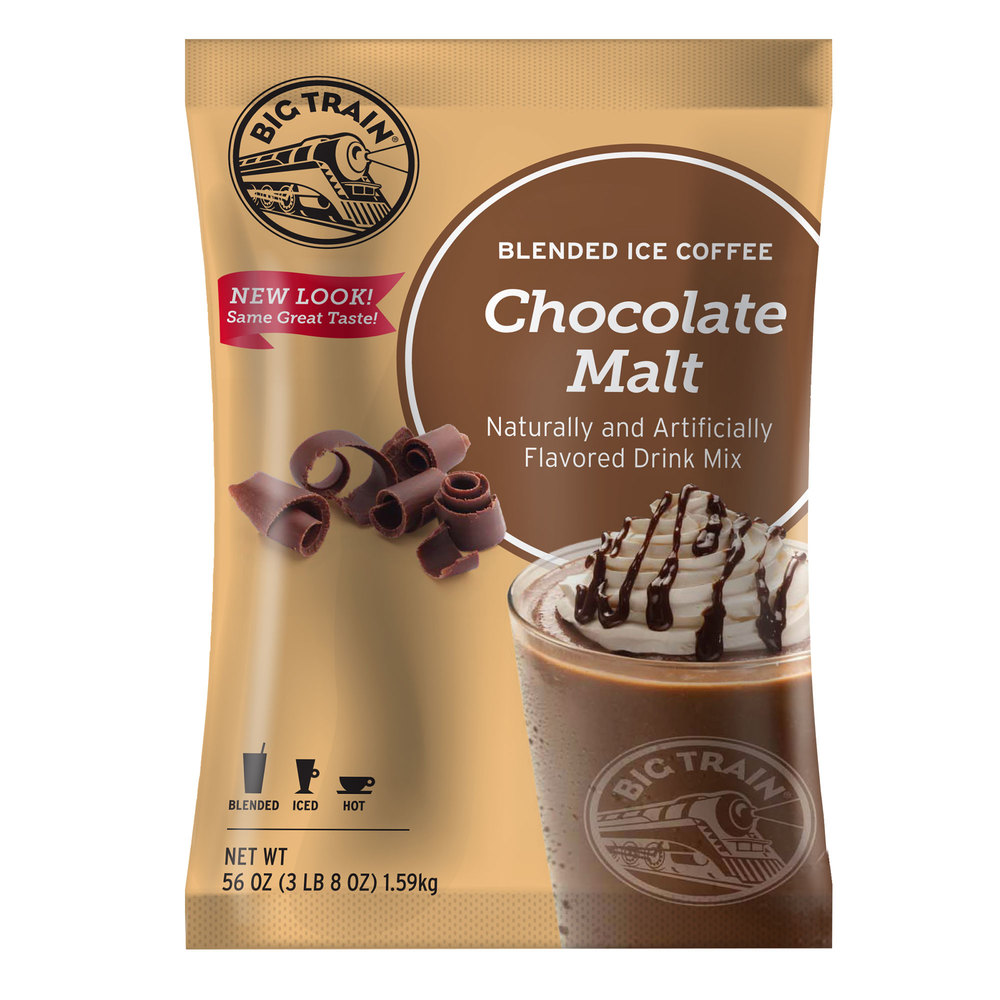 Big Train Chocolate Malt Blended Ice Coffee Mix - 3.5 lb.