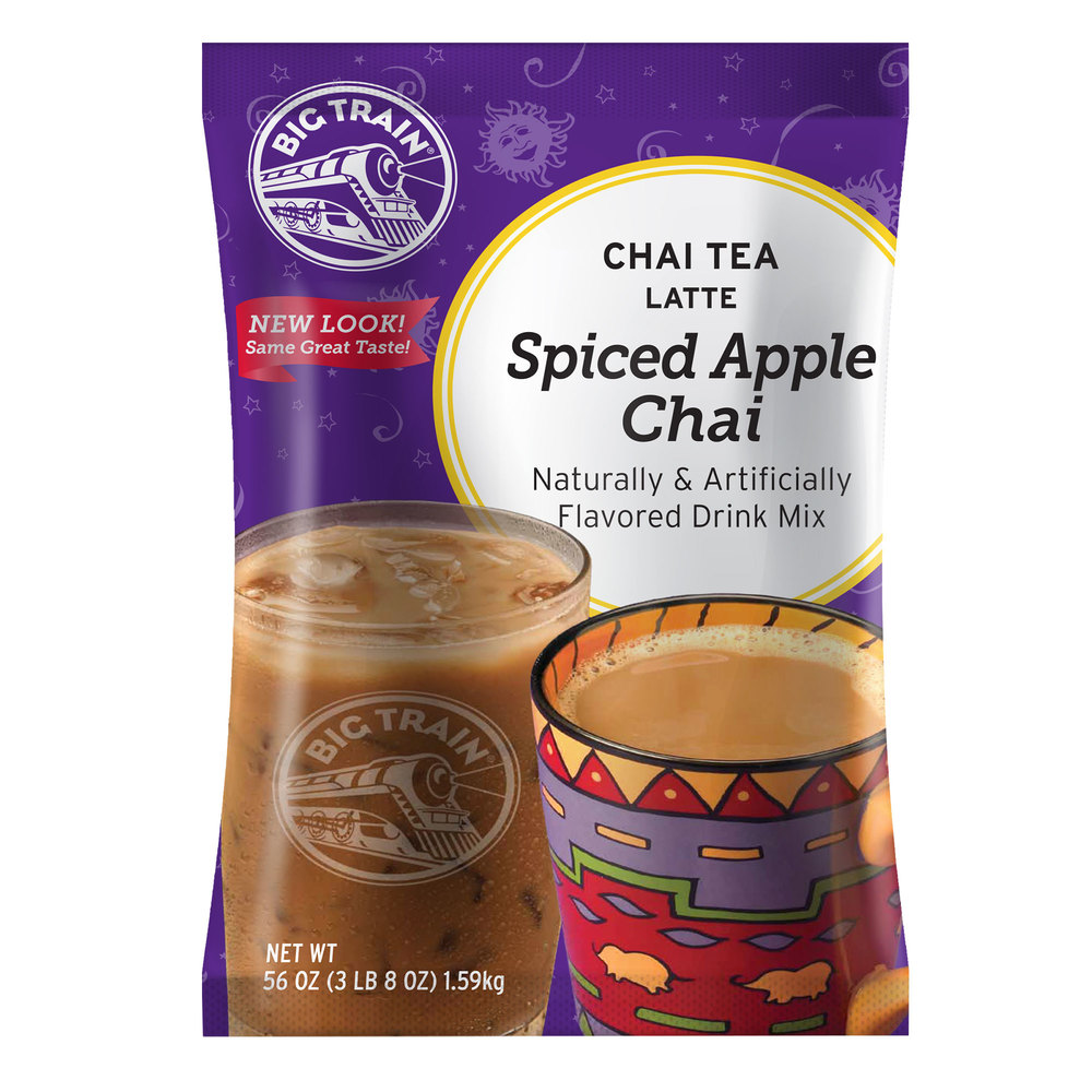 Big Train Apple Spiced Chai Tea Latte Mix - 3.5 lb.