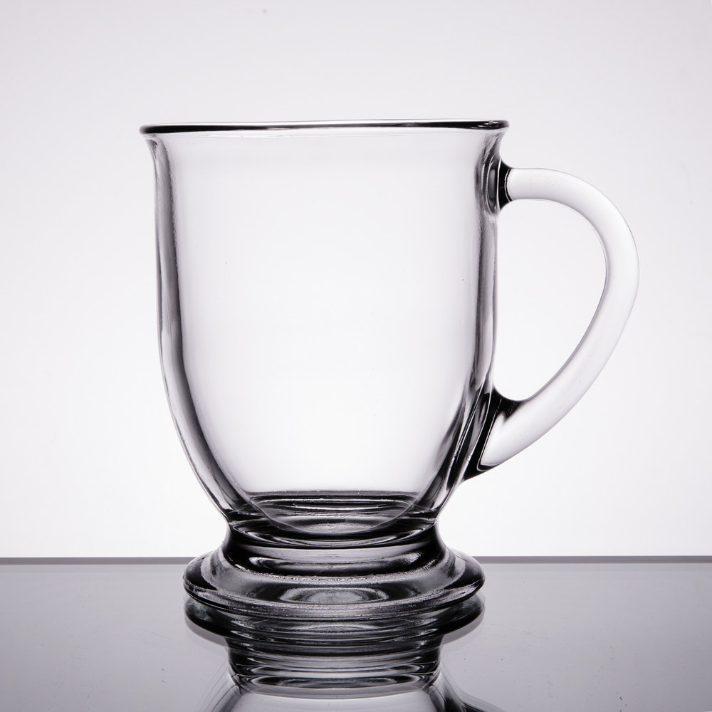 Anchor Hocking 83045a Customizable 16 Oz Glass Cafe Mug