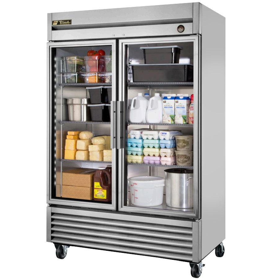 True T 49g Ld 55 Quot Glass Door Reach In Refrigerator With
