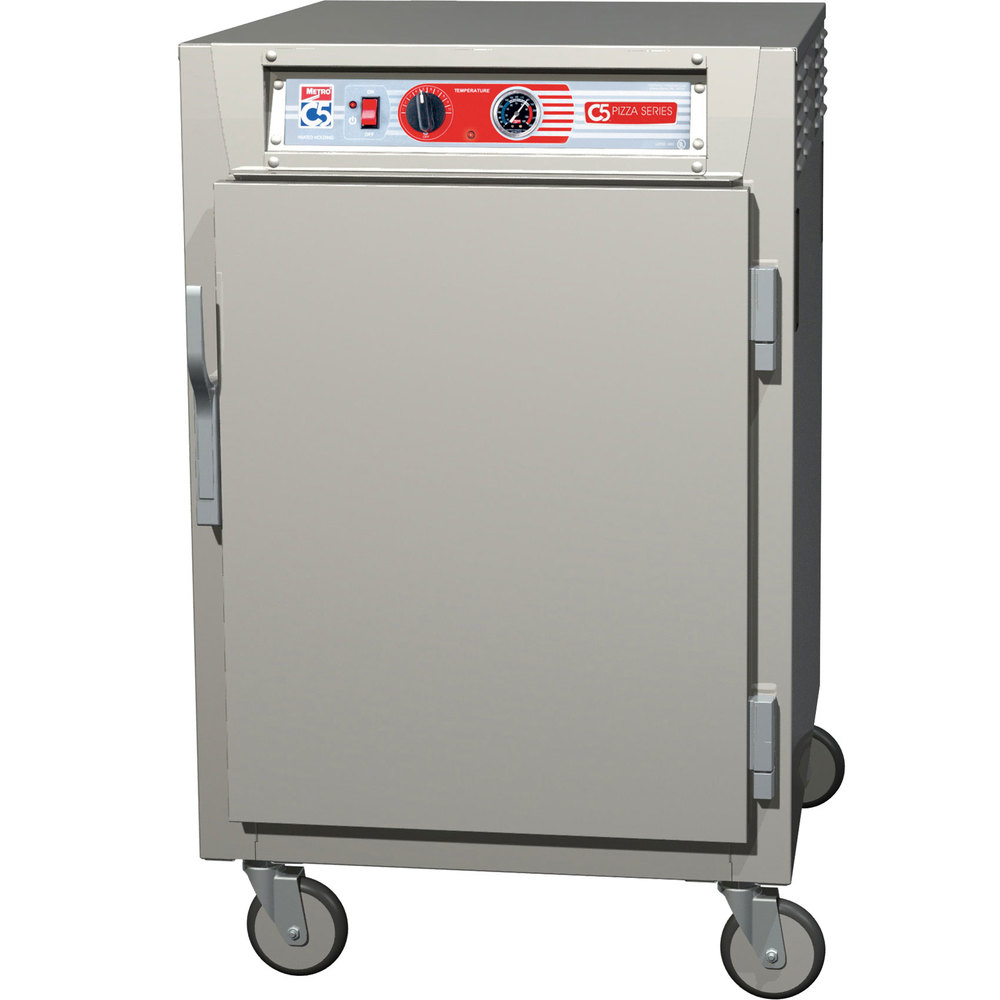 Metro C5Z65-SFS-U C5 Pizza Series Insulated Heated Holding Cabinet - Half Size with Solid Door 120V