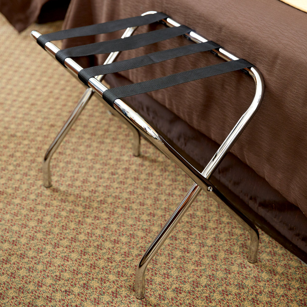 Lancaster Table & Seating Folding Chrome Luggage Rack