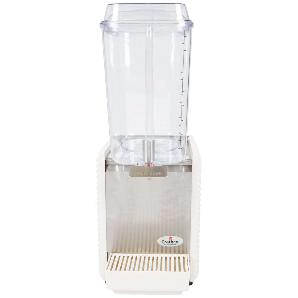 Crathco D15-4 Single 5 Gallon Bowl High Impact Plastic Refrigerated Beverage Dispenser