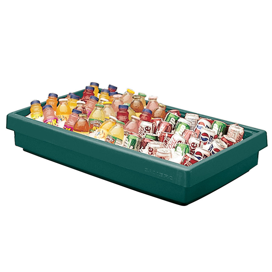 "Cambro BUF72 68"" x 24"" x 7"" Green Buffet Bar Base"
