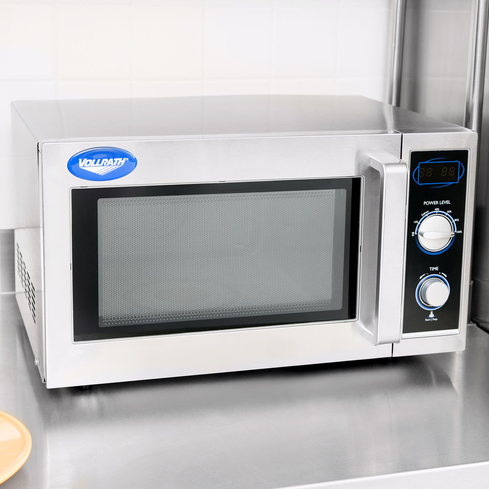 Vollrath 40830 Stainless Steel Commercial Microwave Oven With Manual Controls 120v 1000w