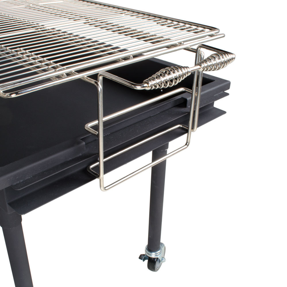 backyard pro char60 60 x 24 heavy duty steel charcoal grill with