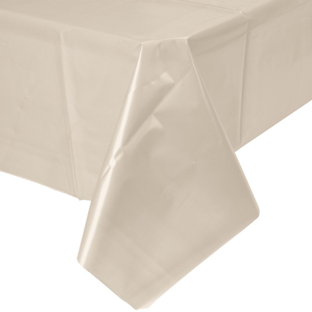 Ivory Disposable Plastic Table Cover 24 Main Picture
