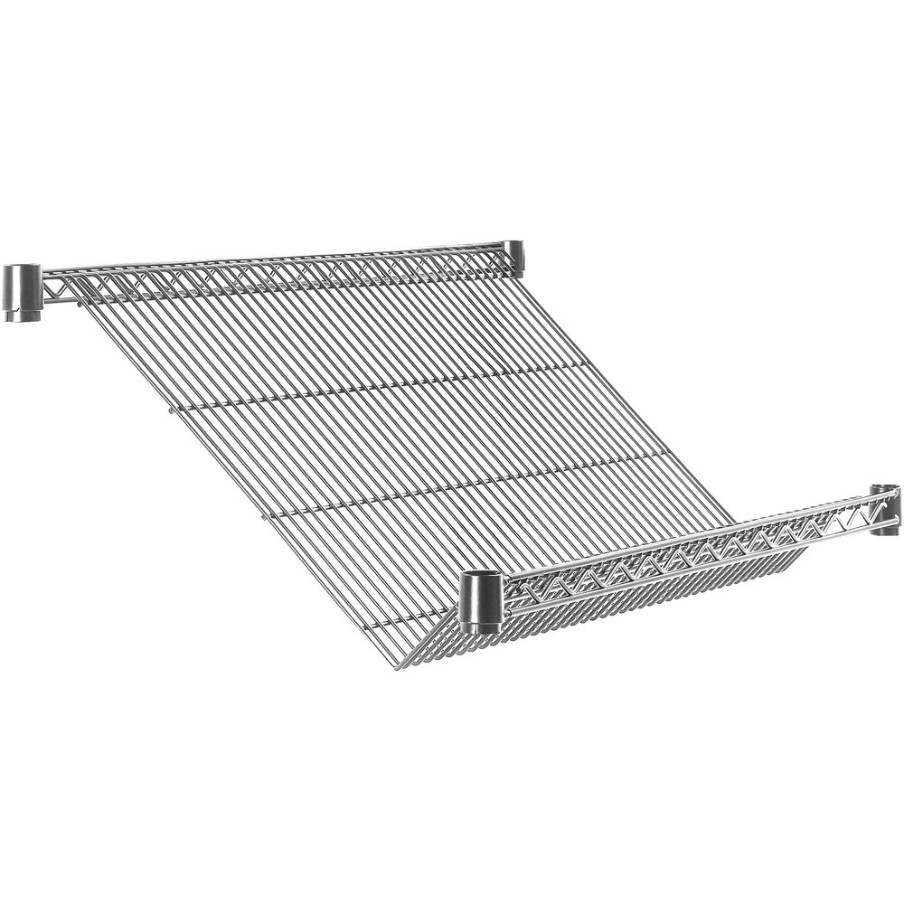 "Metro Super Erecta 1848DNC 18"" x 48"" Merchandiser / Dispenser Slanted Shelf"