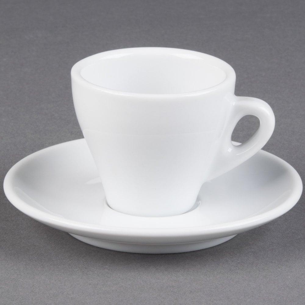 Cac E 3 Venice 3 5 Oz White Espresso Cup With 4 7 8
