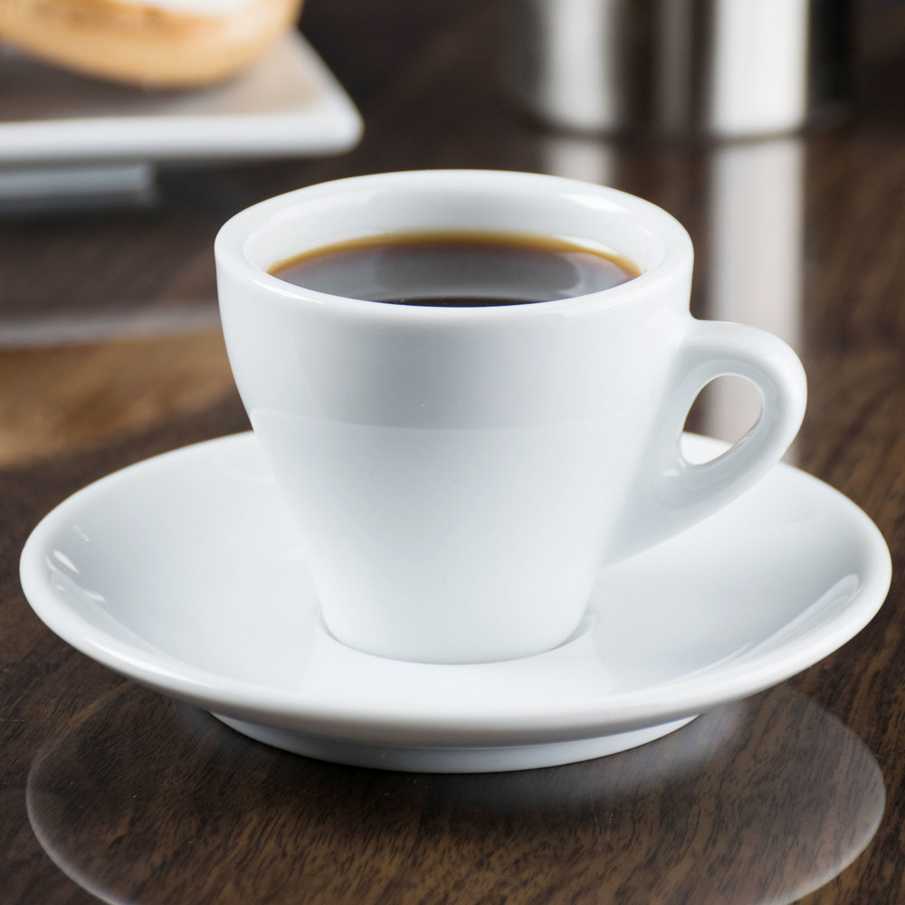 cac e venice  oz white espresso cup with   saucer  case - placeholder image requested by buyer