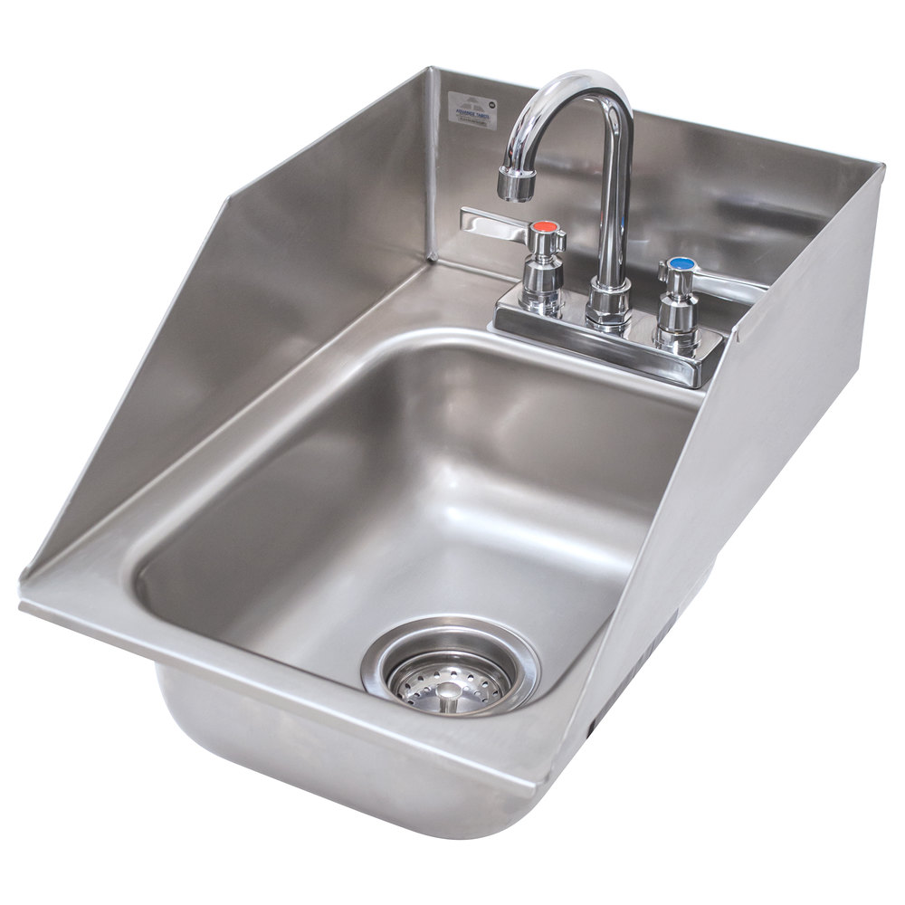 "Advance Tabco DI-1-5SP Drop In Stainless Steel Sink with Side Splash 5"" Deep"