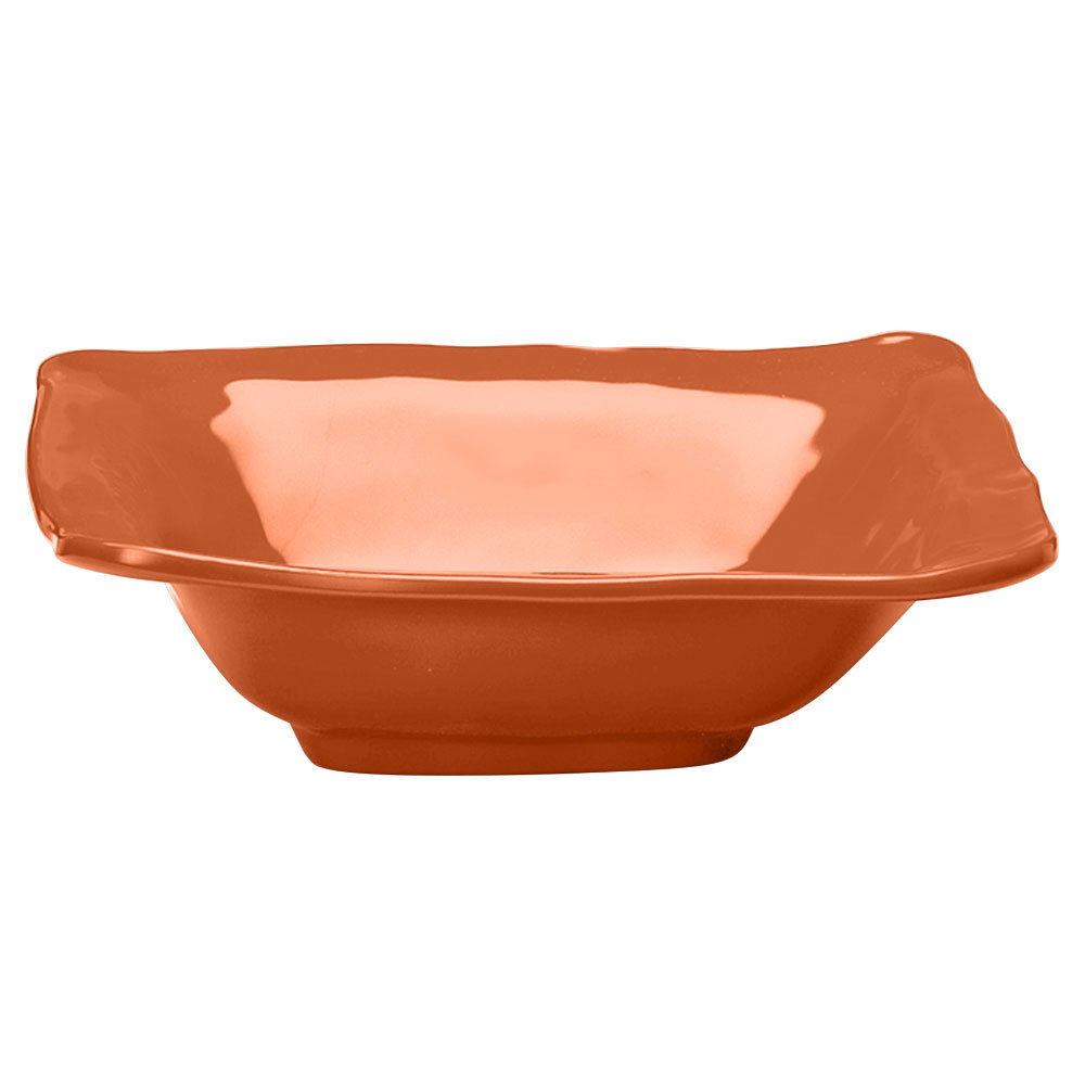 Elite Global Solutions M103BRF Tuscany Sunburn Terra Cotta 1.75 Qt. Square Bowl