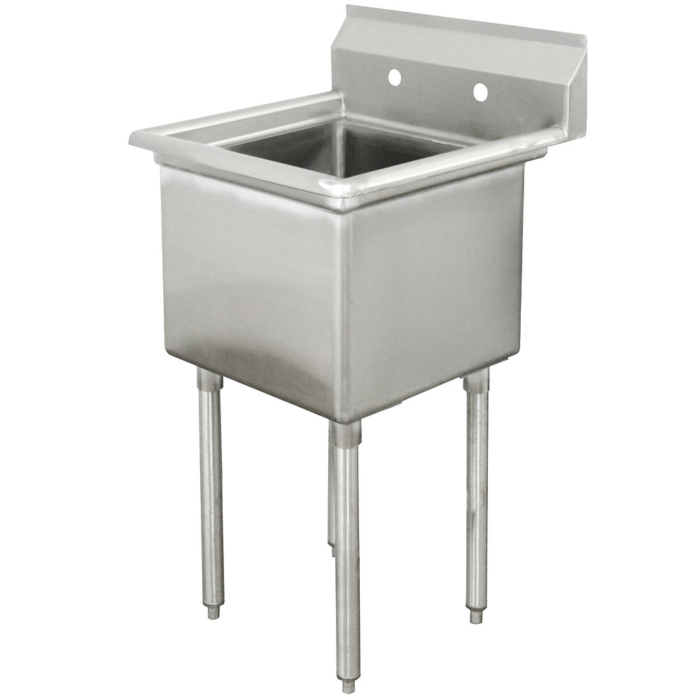 ... Compartment Stainless Steel Commercial Sink without Drainboard - 21