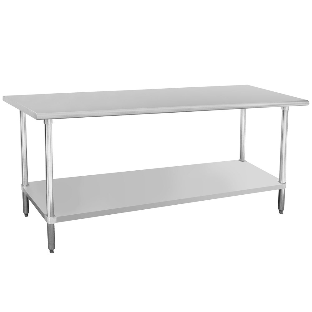 "Advance Tabco ELAG-184-X 18"" x 48"" 16 Gauge Stainless Steel Work Table with Galvanized Undershelf"