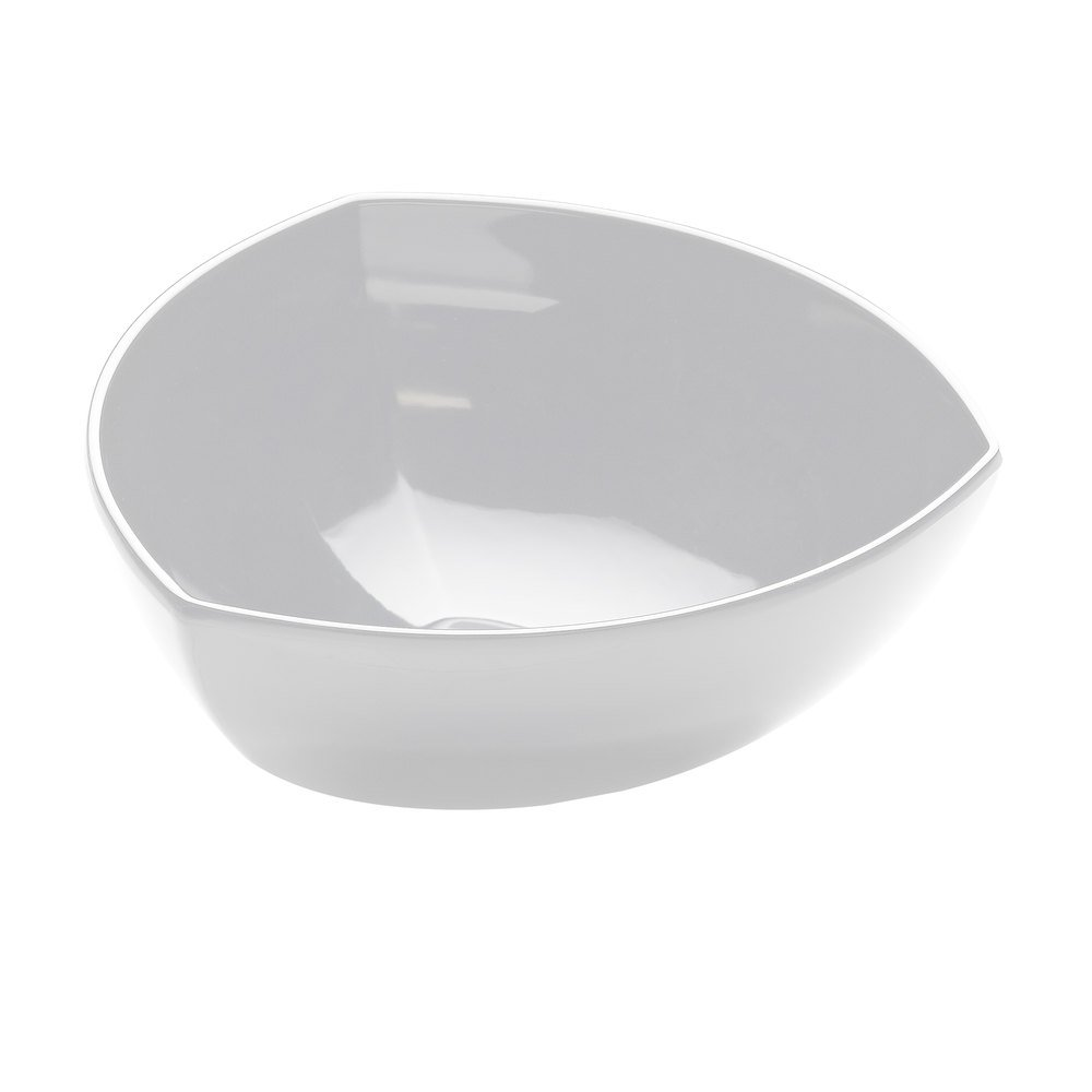 Elite Global Solutions M10TNW Super Bowls White Triangular 3.25 Qt. Bowl