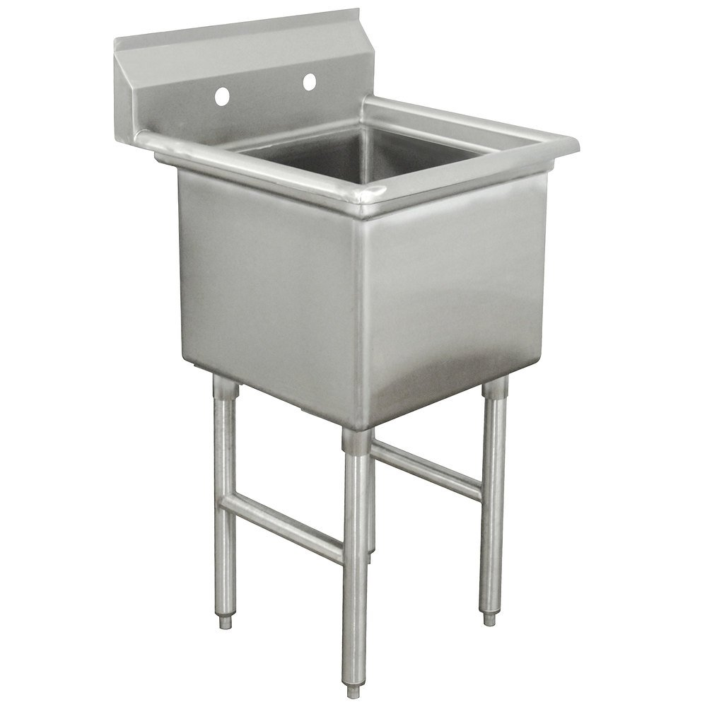 Advance Tabco FC-1-1620 One Compartment Stainless Steel Commercial Sink without Drainboard - 21""
