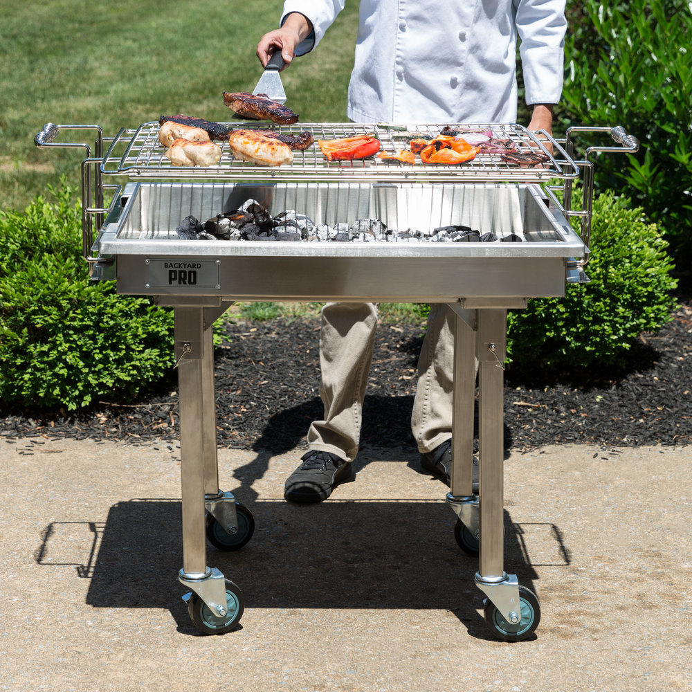 """Backyard Pro 30"""" Stainless Steel Charcoal Grill with ..."""