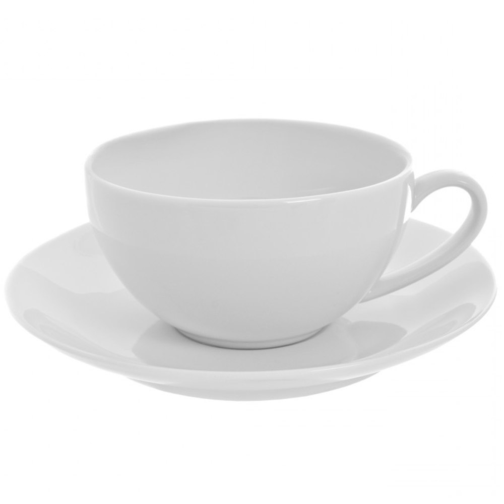 10 Strawberry Street RCP0009 Royal Coupe 10 oz. White Oversized Cup / Saucer - 24/Case