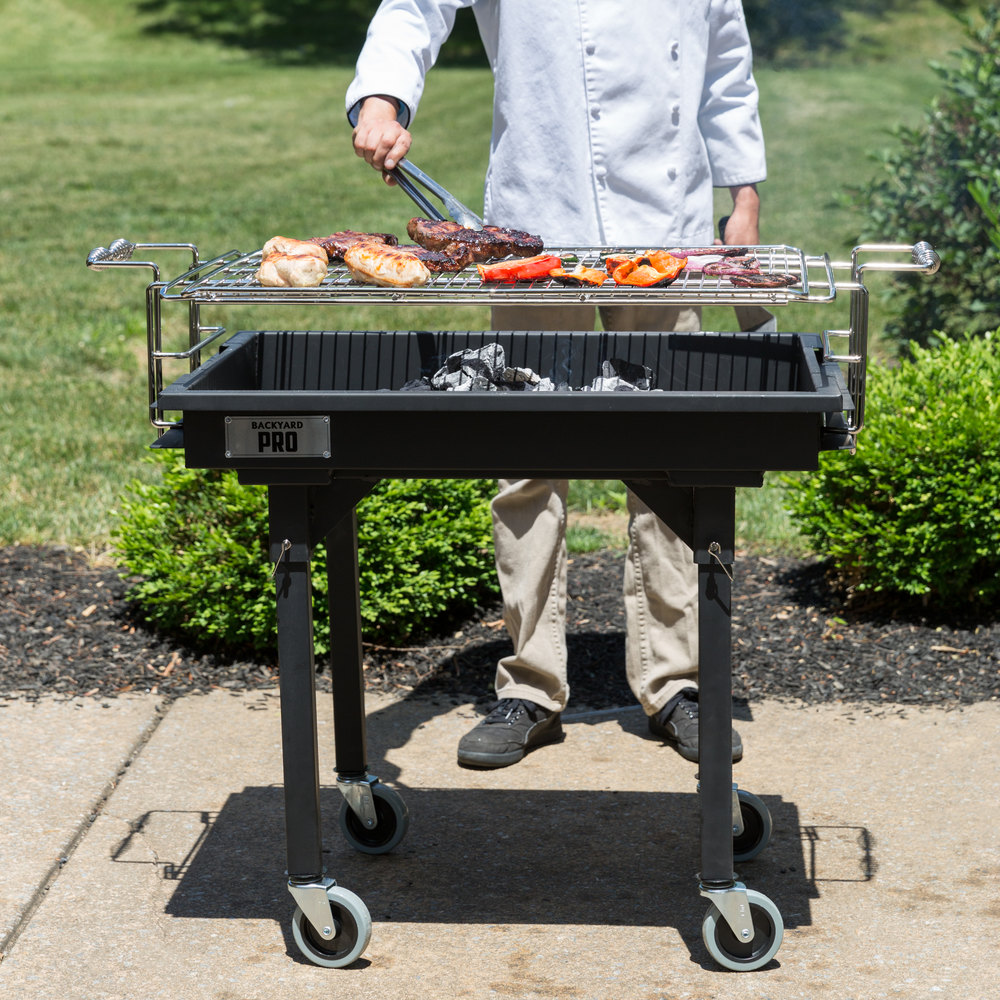 Backyard Pro 30 Quot Heavy Duty Steel Charcoal Grill With