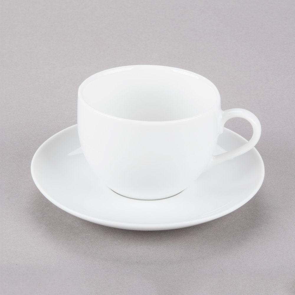White Porcelain Cup And Saucer 24 Main Picture