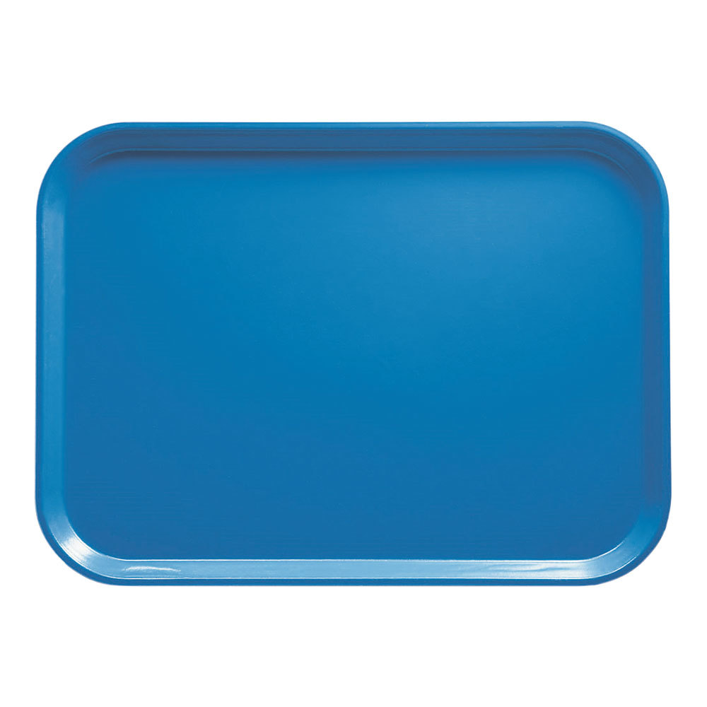 "Cambro 3242105 12 1/2"" x 16 1/2"" (31,9 x 41,9 cm) Rectangular Metric Horizon Blue Fiberglass Camtray - 12/Case"