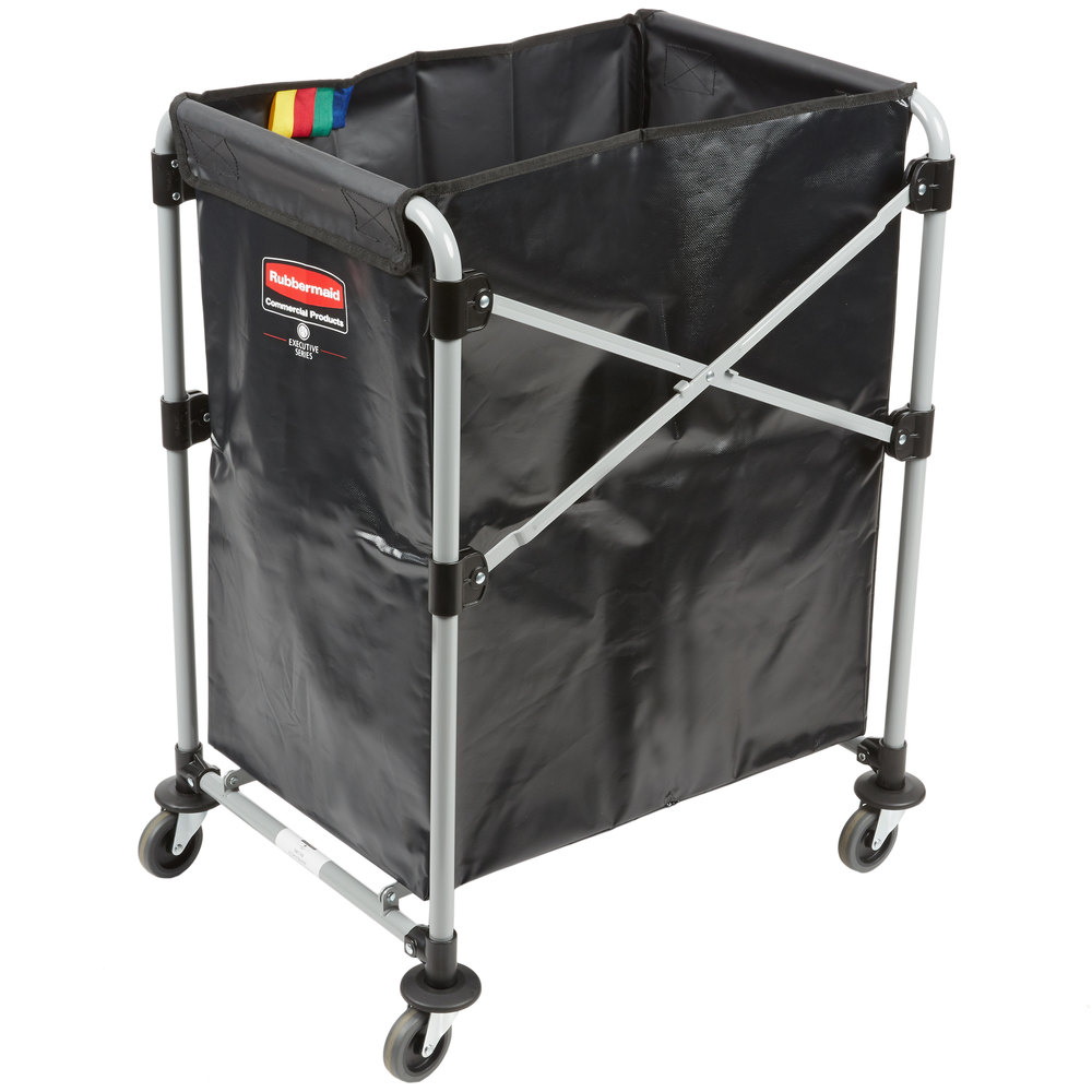 Rubbermaid Laundry Cart 4 Bushel X Frame Collapsible