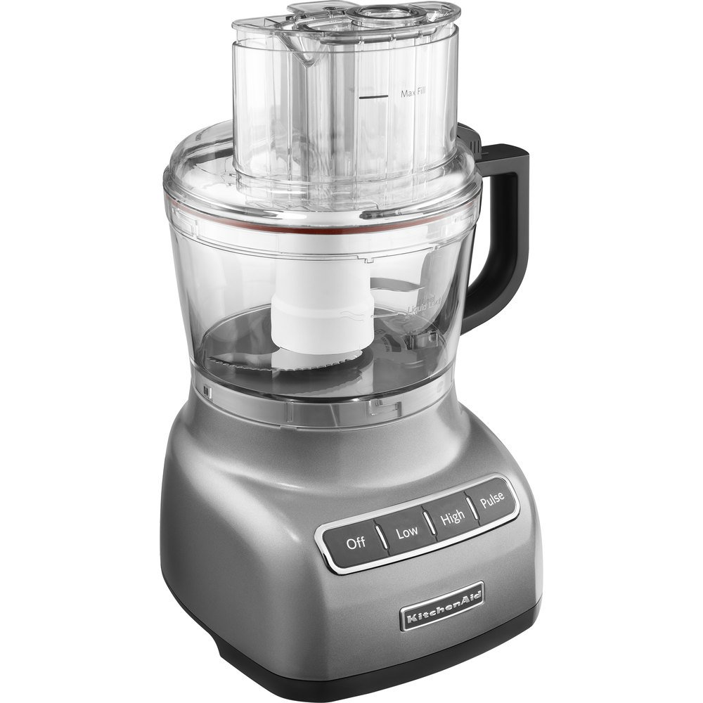 Kitchenaid kfp0922cu contour silver 9 cup food processor for Kitchenaid food processor