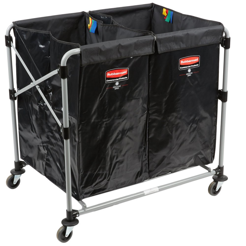 Rubbermaid Laundry Cart 4 Bushel Collapsible Two Section
