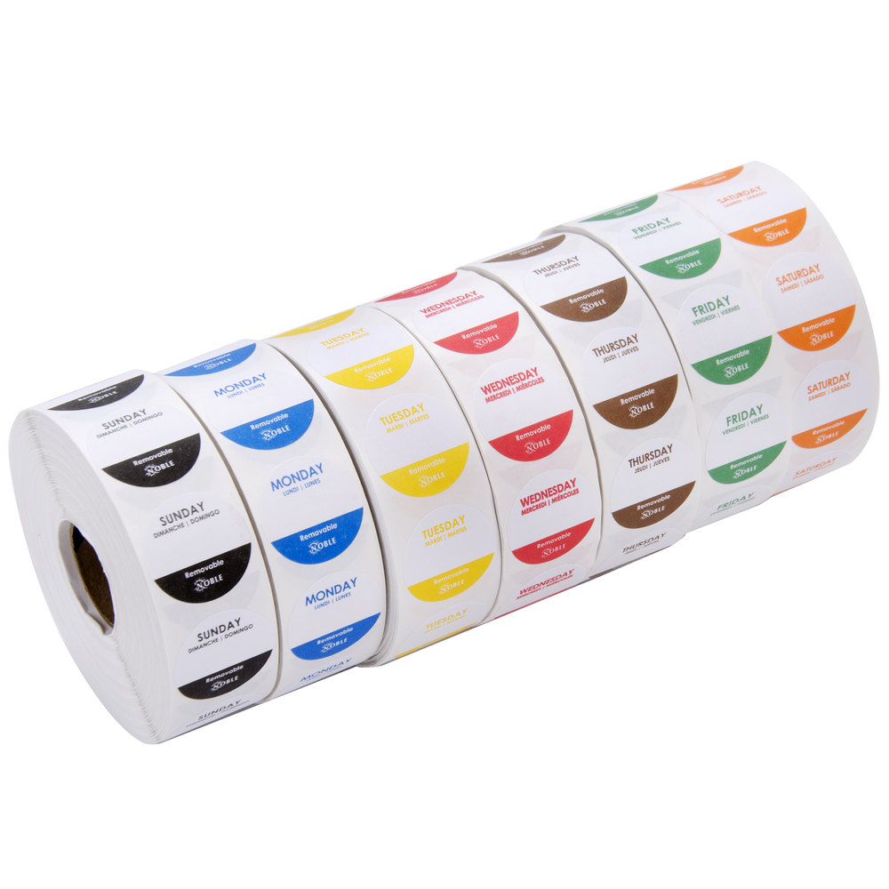"Mild Food STORE LABELS 1000 PER ROLL STICKERS 1/"" Circle Size Peel /& Stick"