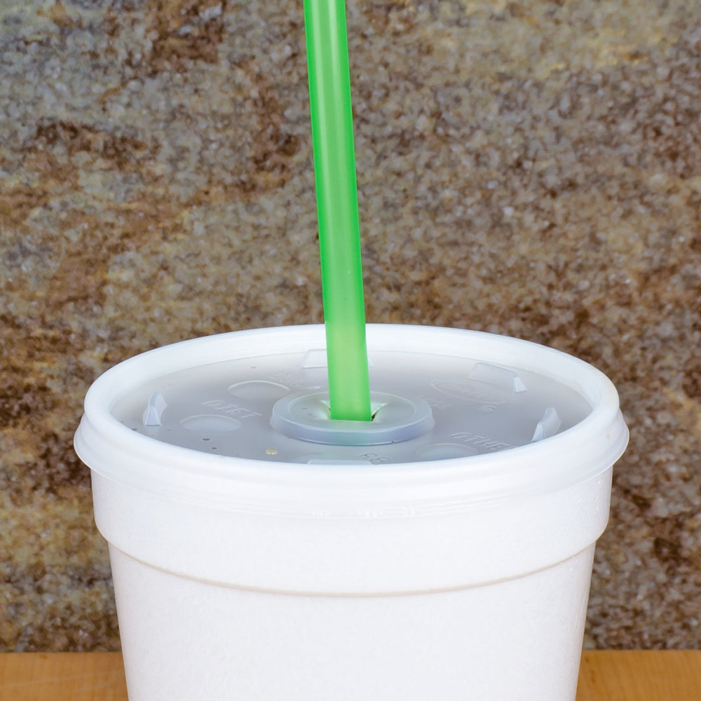 "10"" Green Unwrapped Straw - 10000/Case"