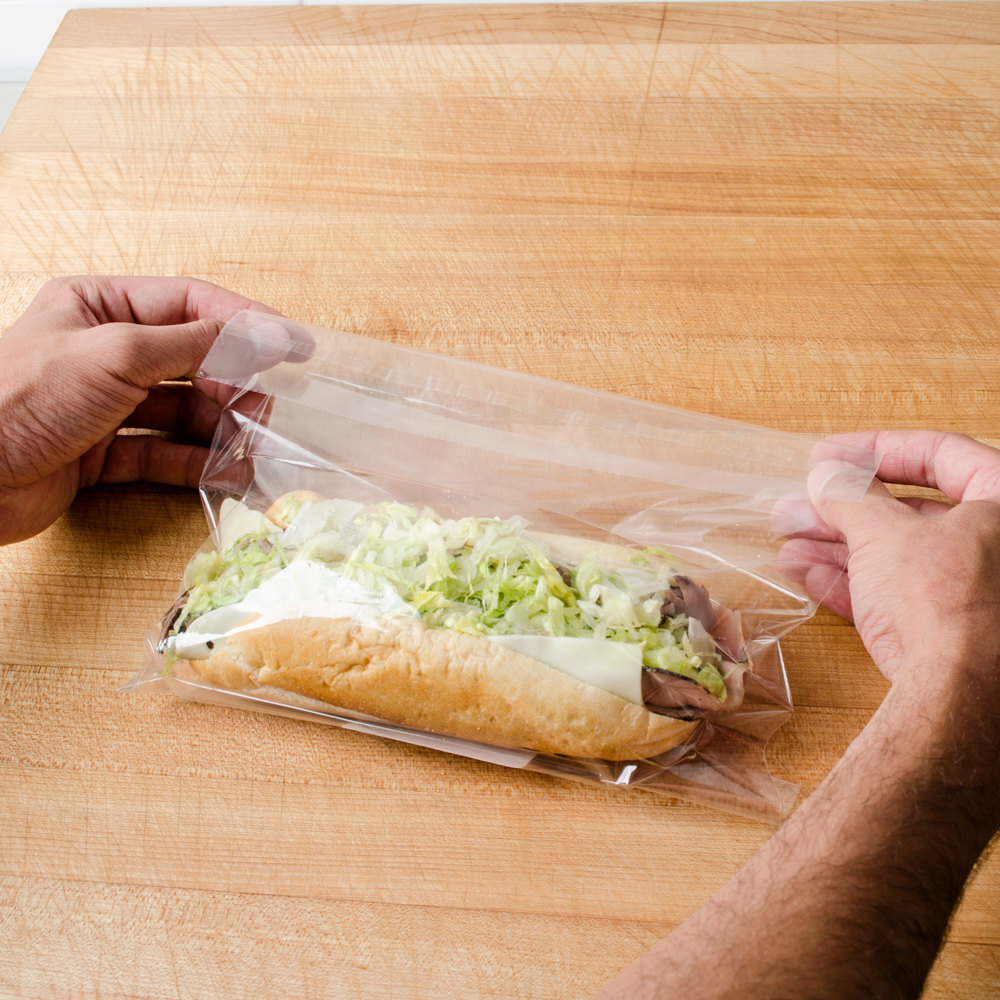 "Plastic Lip and Tape Resealable Sandwich Bag 10"" x 8"" - 1000 / Case"